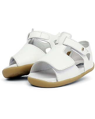 Bobux Step-Up Mirror Sandal, White - Ultra flexible, perfect for first steps! Shoes