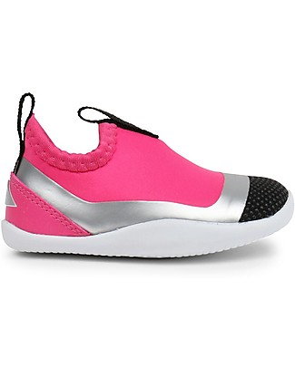 Bobux Step-Up Play Lo Demension, Fuchsia/Silver- Super flexible, ideal for outdoors Shoes
