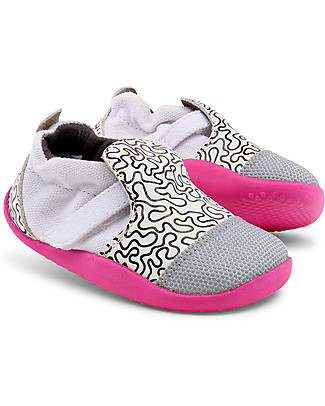 Bobux Step-Up Play Xplorer City, Fuchsia/White/Black - Super flexible, ideal for outdoors Shoes