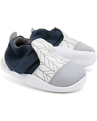 Bobux Step-Up Play Xplorer City, White/Grey - Super flexible, ideal for outdoors Shoes