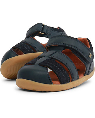 Bobux Step-Up Roam Sandal, Navye Blue – Ultra flexible, perfect for first steps! Special Occasion