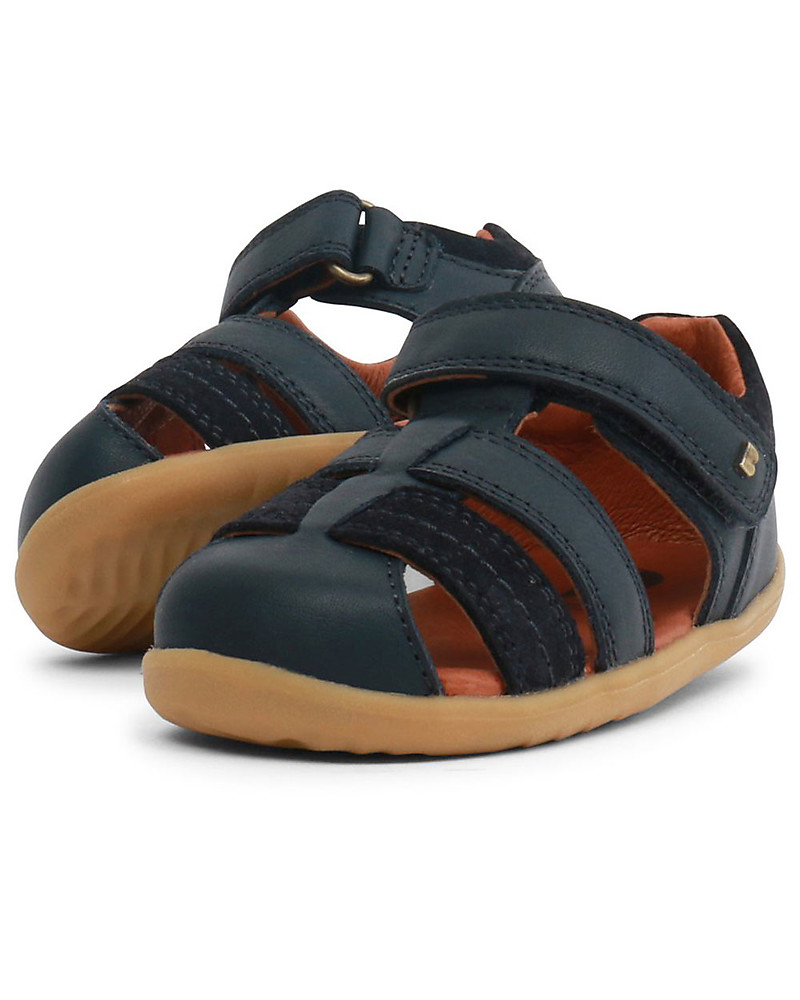 b1dde6249 Bobux Step-Up Roam Sandal, Navye Blue - Ultra flexible, perfect for first