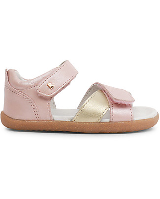 Bobux Step-Up Sail Sandal, Blush/Gold - Ultra flexible, perfect for first steps! Shoes
