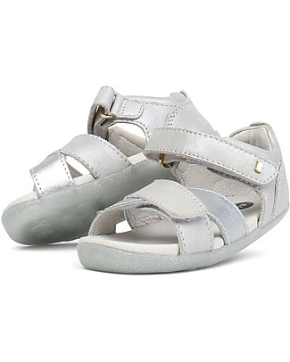Bobux Step-Up Sail Sandal, Silver - Ultra flexible, perfect for first steps! Shoes