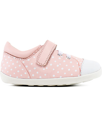 Bobux Step-Up Scribble Shoe, Pink + White Spots – Ultra flexible, perfect for first steps! Shoes