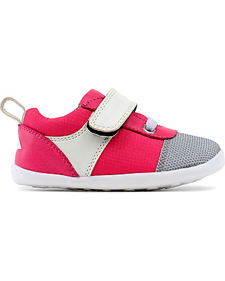 Bobux Step-Up Street Edge, Fuchsia/White - Ultra flexible, perfect for first steps! Shoes