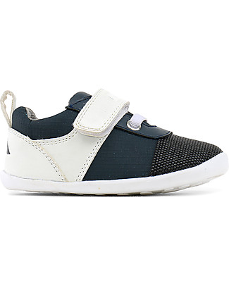 Bobux Step-Up Street Edge, Navy/White - Ultra flexible, perfect for first steps! Shoes