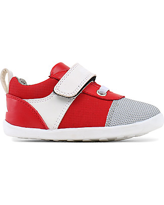 Bobux Step-Up Street Edge, Red/White - Ultra flexible, perfect for first steps! Shoes