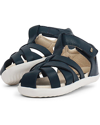Bobux Step-Up Tropicana Sandal, Navy Blue - Ultra flexible, perfect for first steps! Shoes
