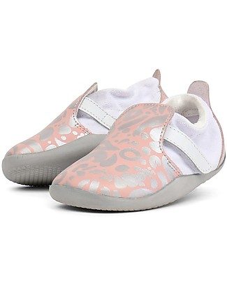 Bobux Step-Up Xplorer Abstract, Pink/Silver - Super flexible, ideal for outdoors Shoes