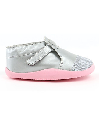 Bobux Step-Up Xplorer Origin, Printed Silver/Ice Pink - Super flexible, ideal for outdoors Shoes