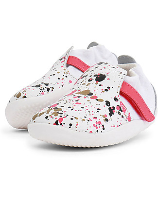 Bobux Step-Up Xplorer Spekkel, White/Watermelon - Super flexible, ideal for outdoors Shoes
