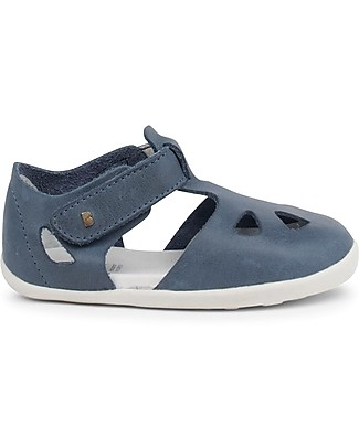 Bobux Step-Up Zap Sandal, Denim – Ultra flexible, perfect for first steps! Shoes