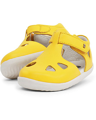 Bobux Step-Up Zap Sandal, Yellow – Ultra flexible, perfect for first steps! Shoes