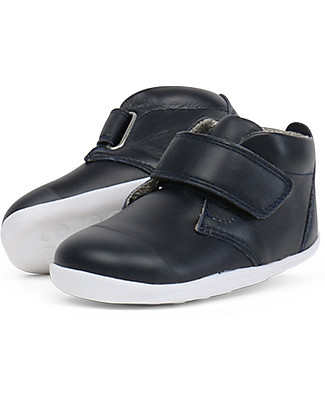 Bobux Step-Up Ziggy Boot, Navy - Perfect for first steps! Shoes