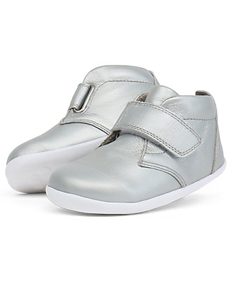 Bobux Step-Up Ziggy Boot, Silver - Perfect for first steps! Shoes