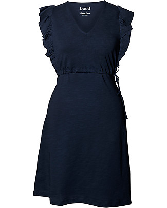 Boob Alicia, Maternity and Nursing Dress, Midnight Blue – 100% Organic Cotton Dresses