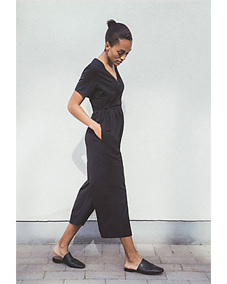 Boob Amelia Maternity and Nursing Jumpsuit, Black - Organic Cotton Rompers