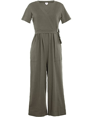 Boob Amelia Maternity and Nursing Jumpsuit, Olive Leaf - Organic Cotton Special Occasion