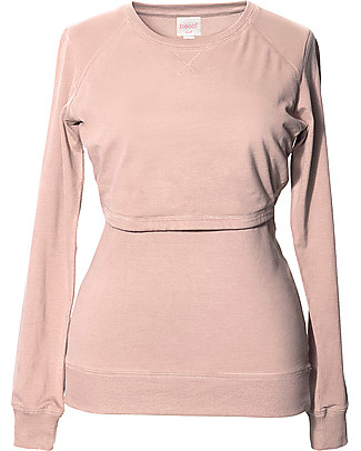 Boob B-warmer Maternity and Nursing Sweatshirt, Pebble - Ultra-soft fleece lining! Sweatshirts