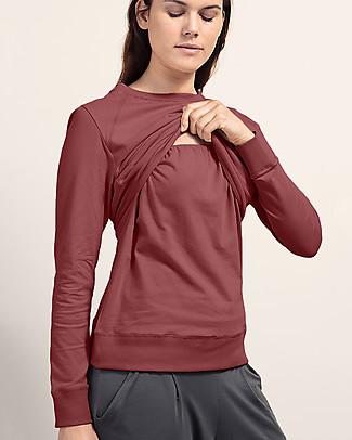Boob B-warmer Maternity and Nursing Sweatshirt, Pompei Red - Ultra-soft fleece lining! Sweatshirts