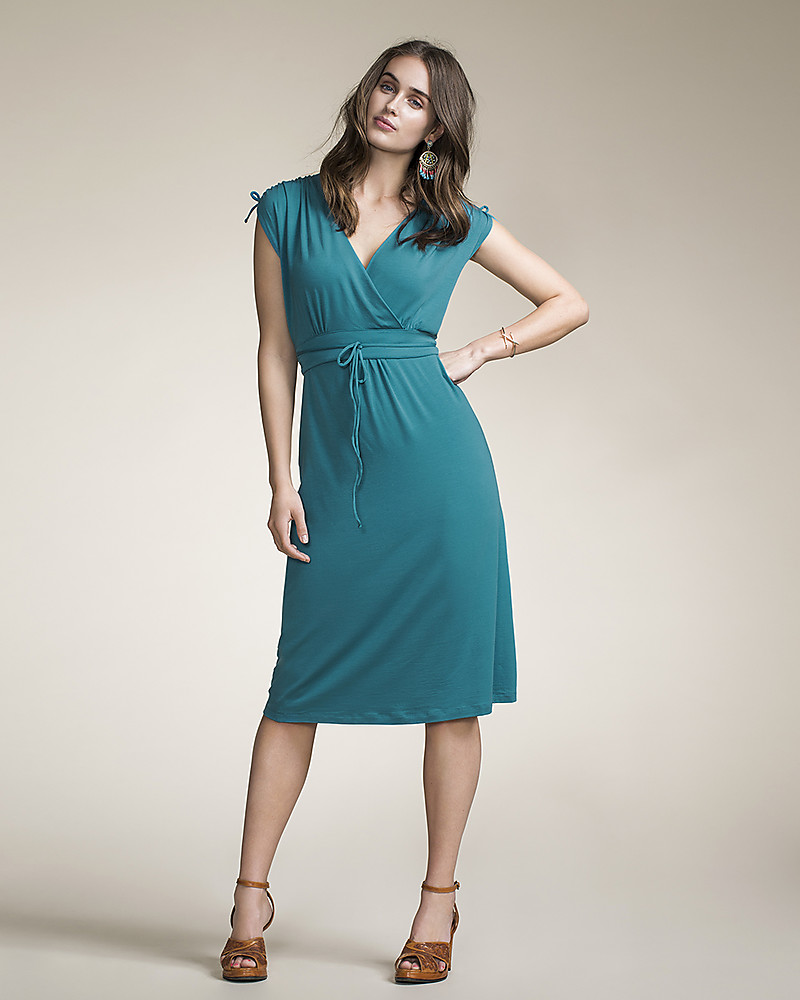 Boob Bianca Maternity & Nursing Dress, Green Pool - Soft eucalyptus ...
