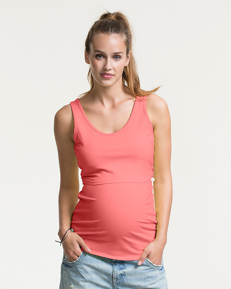 118a88ee346fc Boob Classic Maternity & Nursing Singlet, Watermelon - Organic Cotton  T-Shirts And Vests
