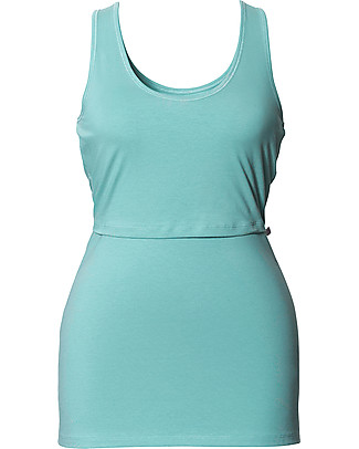 Boob Classic Maternity & Nursing Singlet, Nile Blue - Organic Cotton T-Shirts And Vests