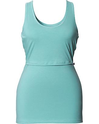Boob Classic Maternity & Nursing Singlet, Nile Blue - Organic Cotton T-Shirts And Vests