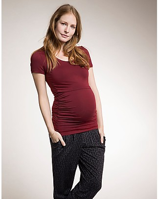 Boob Classic Maternity and Nursing Short-Sleeved Top, Soft Cherry - Organic cotton Evening Tops