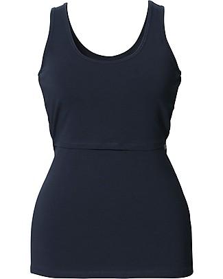 Boob Classic Maternity and Nursing Tank Top, Blue Midnight - Organic cotton Evening Tops