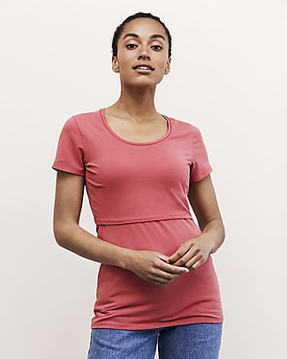 Boob Classic Short-sleeved Maternity and Nursing Top, Faded Rose - Organic cotton Evening Tops