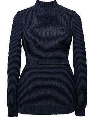 Boob Elisa, Maternity and Nursing Rib Knitted Sweater - Midnight Blue Sweatshirts