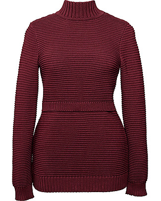 Boob Elisa, Maternity and Nursing Rib Knitted Sweater - Oxblood red Sweatshirts