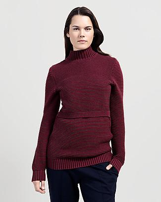 Boob Elisa, Maternity and Nursing Rib Knitted Sweater - Oxblood red Sweatshirts