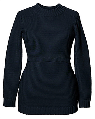 Boob Ellen, Maternity and Nursing Organic Cotton Rib Sweater - Midnight Blue Jumpers