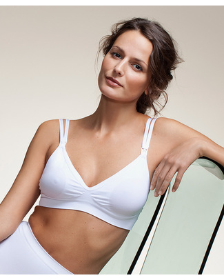 Boob Fast Food Nursing Bra - Double Strap White Bras
