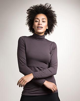 Boob Jackie, Turtleneck Maternity & Nursing Top, Pip - Soft eucalyptus fabric Long Sleeves Tops