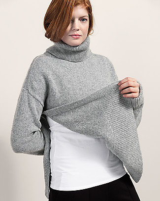 Boob Jamie, Maternity and Nursing Recycled Wool Sweater - Grey Melange Sweatshirts