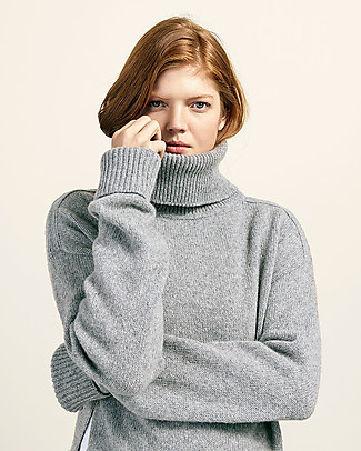 Boob Jamie, Maternity and Nursing Recycled Wool Sweater - Grey Melange Sweatshirts