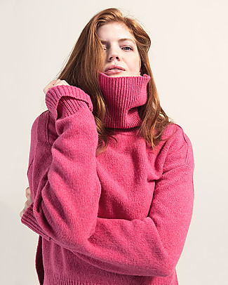 Boob Jamie, Maternity and Nursing Recycled Wool Sweater - Pink berries Sweatshirts