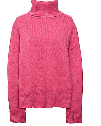 Boob Jamie, Maternity and Nursing Recycled Wool Sweater - Pink berries Sweatshirts