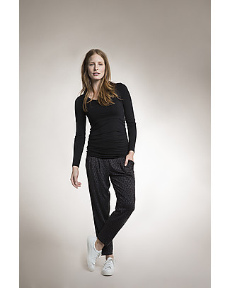 Boob Long-sleeved Maternity & Nursing Top - Black - organic cotton (patented breast-feeding opening) Evening Tops