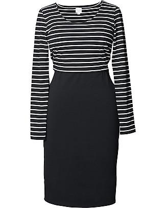 Boob Maternity and Nursing Dress Simone 50/50 - Black & White Stripes Dresses
