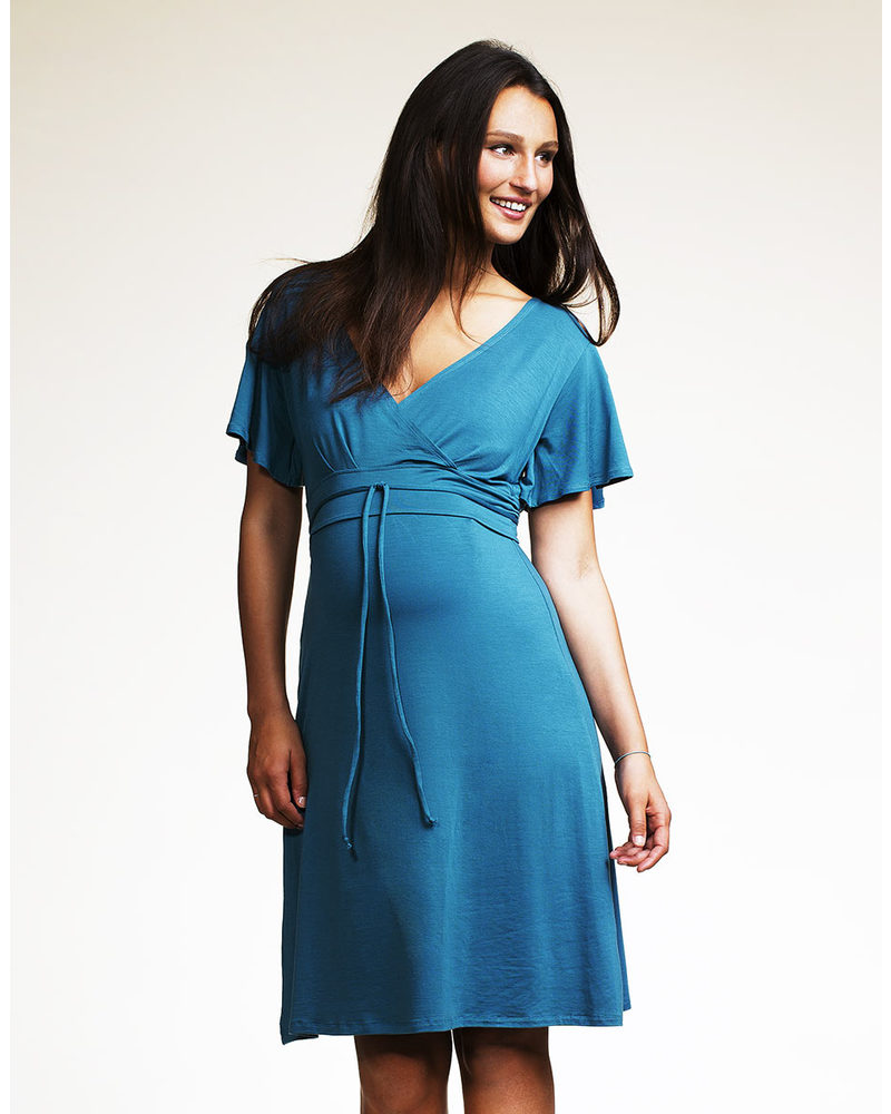 Boob Maternity and Nursing dress Tomika - Turkish Blue (fresh and ...