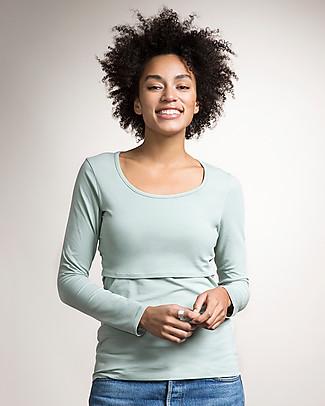 Boob Maternity and Nursing Organic Cotton Top Long Sleeve - Soft celadon Long Sleeves Tops