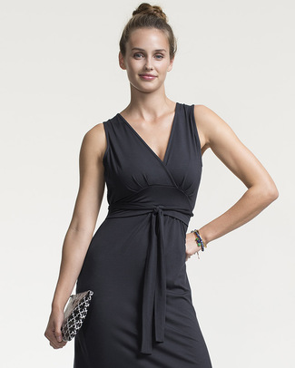 Boob Maternity and Nursing Sophia Maxi Dress - Black - Made from Eucalyptus Fiber! Dresses