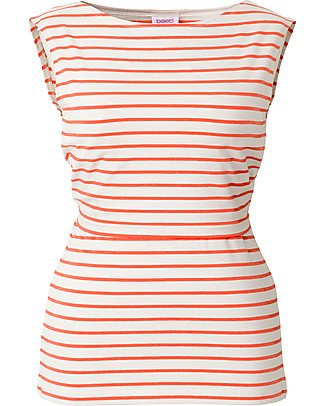 Boob Maternity and Nursing Tank Top - Stripe Off White/Melon - Organic Cotton! T-Shirts And Vests