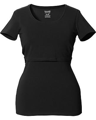 Boob Maternity and Nursing Top Short Sleeve, Black - Organic Cotton T-Shirts And Vests