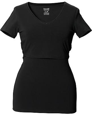 Boob Maternity and Nursing V Neck Short Sleeve Top, Black - Organic Cotton T-Shirts And Vests